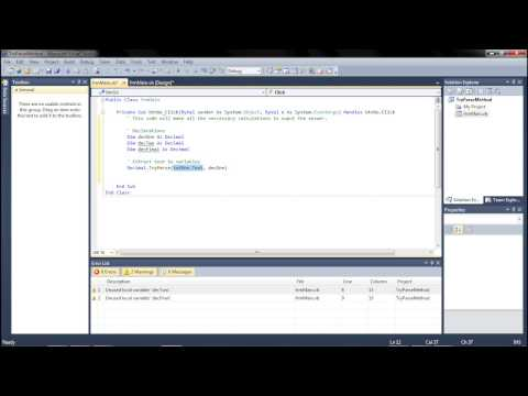 Visual Basic Programming Tutorial #5: TryParse, Declarations, and .ToString