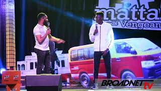 MC REMOTE AND WOLI AROLE COMEDY EXCHANGE WORD ON STAGE LAFF MATAZZ