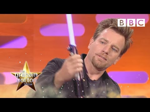 Ewan McGregor a světelný meč