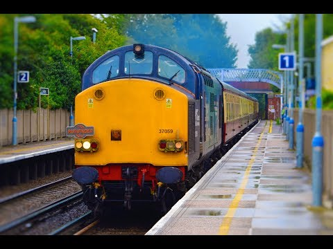 DRS 37059 & 37069 thrash through Sole Street working Pathfin…