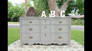 How To Redo Furniture: Grey Dresser Makeover Project