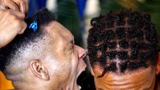 I TRIED MINI TWIST ON MY HUSBAND'S SHORT NATURAL HAIR