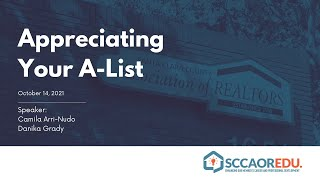 Appreciating Your A-List – October 14, 2021