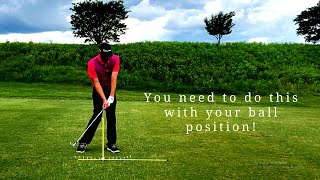 Why Your Ball Position is Hurting You