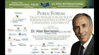 Dr. Alan Bernstein - 2017 Friesen Prize - Lecture at U Ottawa - October 31, 2017