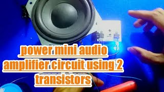 Bass Amplifier Using Quad 13007 Transistor From PC Power