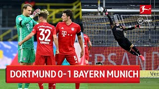 Joshua Kimmich scored the only goal of the game as Bayern beat Dortmund in Der Klassiker to go seven points clear at the top of the Bundesliga.  Hit 'Subscribe' above to ensure you never miss a video from the BT Sport YouTube channel.  Visit and subscribe to our 'BT Sport Boxing' YouTube channel ➡️ http://www.youtube.com/c/btsportboxing  Twitter: http://twitter.com/btsport Facebook: http://www.facebook.com/btsport Instagram:http://instagram.com/btsport Website: http://sport.bt.com