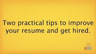 Practical Tips to Improve your Resume and Get Hired | Ray Fischer, CEO of Aha! Online