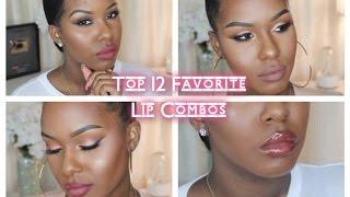 Top 12 Favorite Lip Combos