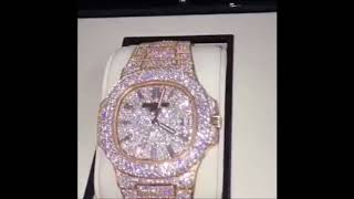 e6cc433a3e4 Fully Iced Out Patek Philippe / bust down fully flodded Patek Philippe /  Iced Out Watches