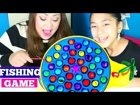 Fishing GAME Family FUN!! LOL | B2cutecupcakes