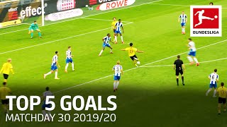 Top 5 Goals on Matchday 30 | Gnabry, Can, Modeste & More