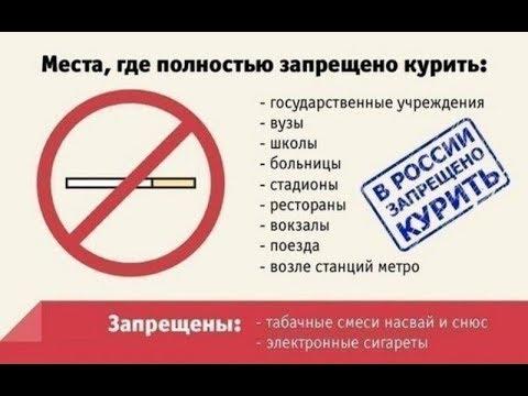 Как наказать курильщика / где запрещено курить