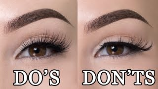 FALSE LASHES DO'S & DON'TS - Video Youtube
