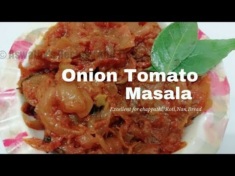 Tasty Onion Tomato Masala Excellent for Chappathi, Appam, Dosa, Nan etc