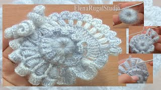 Crochet Freeform Flower Tutorial 2 Part 2 Of 2 Scrumbling Freeform Crochet
