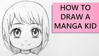 How to Draw a Manga Kid Face in Front View