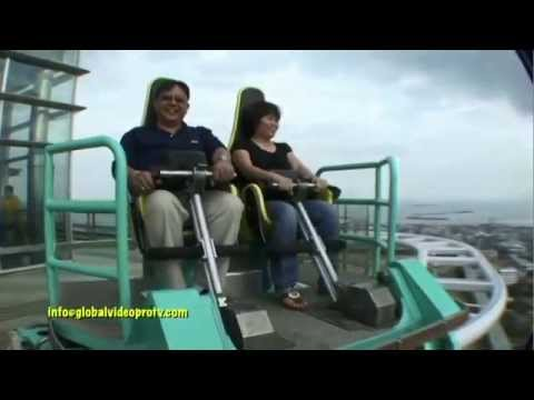 SCARY EDGE COASTER RIDE & SKYWALK. CROWN REGENCY, CEBU. PHILIPPINES
