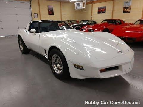1981 White Corvette Blue Int T Top Video