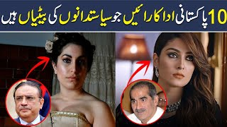 Top 10 Pakistani Actresses whose Parents are Famous Pakistani Politicians, Shan Ali TV