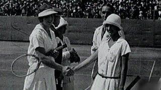 Helen Wills Dominates To Win Womens Tennis Gold - Paris 1924 Olympics
