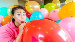I FILLED MY BOYFRIENDS ROOM WITH BALLOONS!! (DONT TELL HIM)