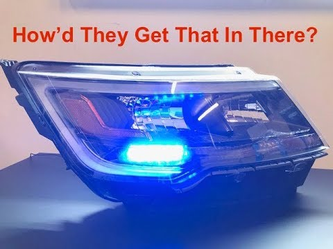 How To Install A Whelen Ion Led Light In A Ford Police Interceptor Utility Headlight