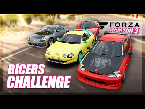 Forza Horizon 3 - Rice Cars Challenge! (Build & Showdown)