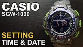 Casio SGW-1000 - Watch Settings Tutorial