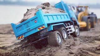 RC construction | Xe ben chở cát | Rc Hino | Rc Man | RC Volvo | Wheelloader Volvo