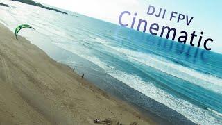 DJI FPV Kiteboarding and Ocean Surfing