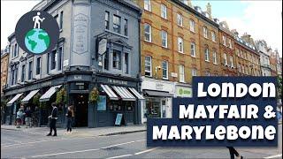 🎧 Walking in London: Immersive walk from Mayfair to Baker Street via Marylebone [4K][BINAURAL]