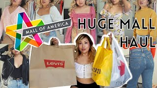 HUGE MALL HAUL & TRY ON @ Mall Of America + My Struggle With Weight Gain | Summer Clearance Sales