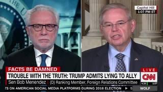 Menendez on CNN Discusses Russia Sanctions, Pompeo Nomination, Trudeau, S. Korea and more