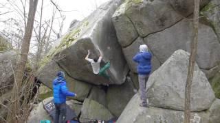 preview picture of video 'Tigre et Dragon, Fontainebleau (Rocher Gréau)'
