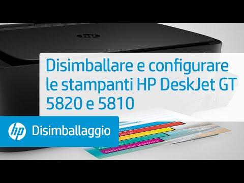 Disimballare e configurare le stampanti HP DeskJet GT 5820 e 5810