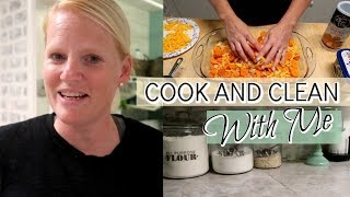 COOK AND CLEAN WITH ME / CARROT CASSEROLE / COLLAB WITH IN WITH JEN