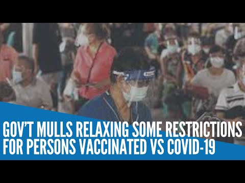 [Inquirer]  Gov't mulls relaxing some restrictions for those vaccinated vs COVID-19
