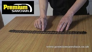 How to identify and measure a chainsaw chain