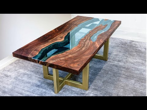 Live Edge River Table | Woodworking How-To