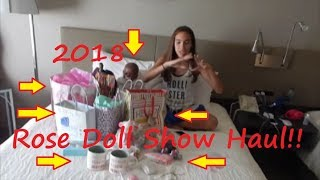 New Reborn Baby! New Silicone Puppy! HUGE Haul From 2018 Rose Doll Show in Utah!