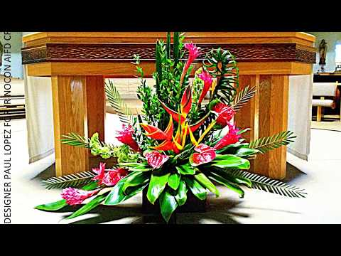 "FLORAL DESIGN INSPIRATIONS: ""TROPICAL SUNDAY FLOWERS"" A COLLECTION OF UNIQUE CHURCH ARRANGEMENTS"
