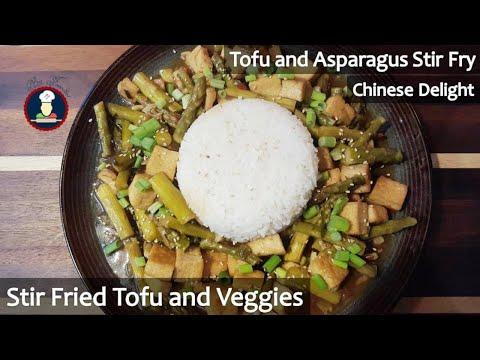 Tofu Asparagus Stir Fry | Sweet and Sour Tofu Recipe | Tofu With Stir Fry Vegetable | Chilly Tofu