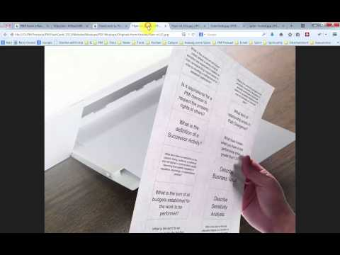 How to use Your Printable PMP Exam FlashCards - YouTube