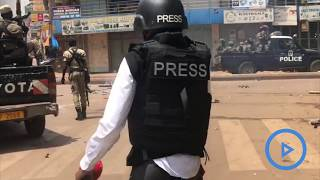 Uganda police lock up over 100 in Bobi Wine protests