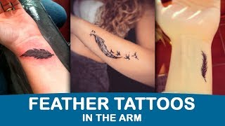 Feather Tattoos On The Arm  The Best Tattoos