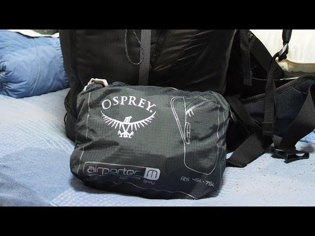 Видео Чехол Osprey Airporter Shadow Grey