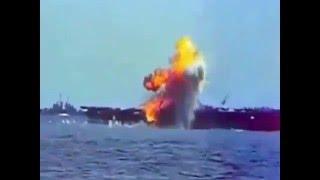 Смотреть онлайн Японские камикадзе и таран американских кораблей