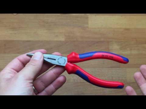 Ersteindruck: Qualitative Knipex Flachrundzange mit Schneide