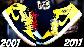 "2007 vs. 2017 Jordan 1 ""NEW LOVE"" -  Comparison / Which 1 do you choose? Old Love Pack 10 Years Old"